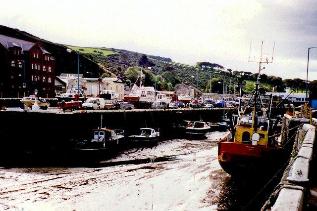 Douglas - View of the quay to west towards Bridge St