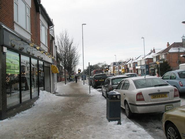 Treacherous conditions near Drayton shops