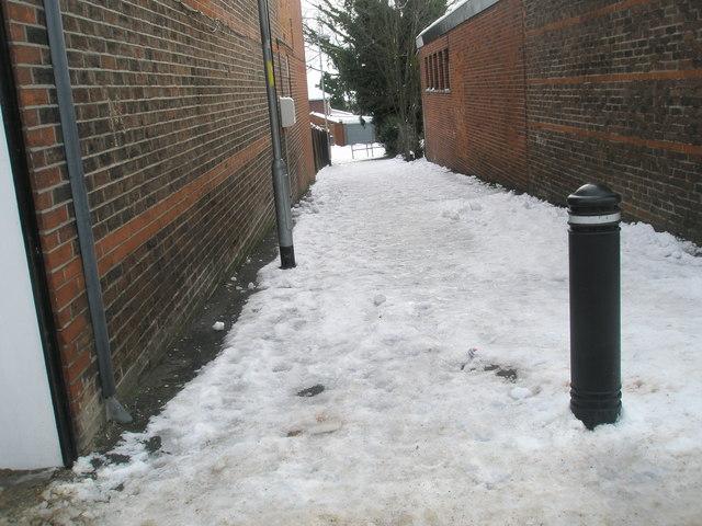 Treacherous conditions at Aldsworth Path