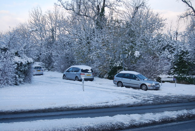 Cars parked on Quarry Bank