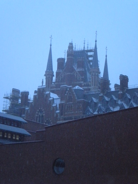 St Pancras Railway Station from the British Library, Euston Road NW1