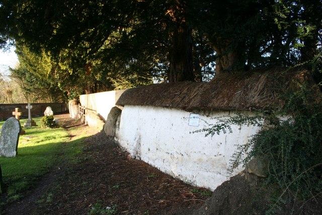 Cob Wall by the church