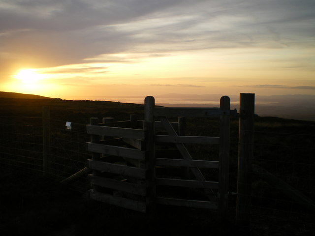 Sunset at kissing gate
