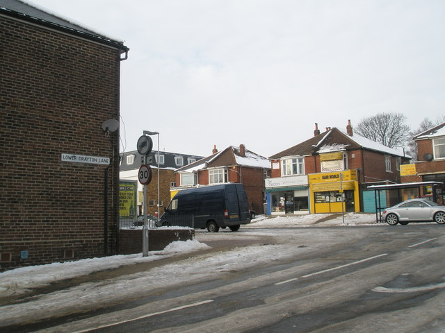 Looking from Lower Drayton Lane into the Havant Road
