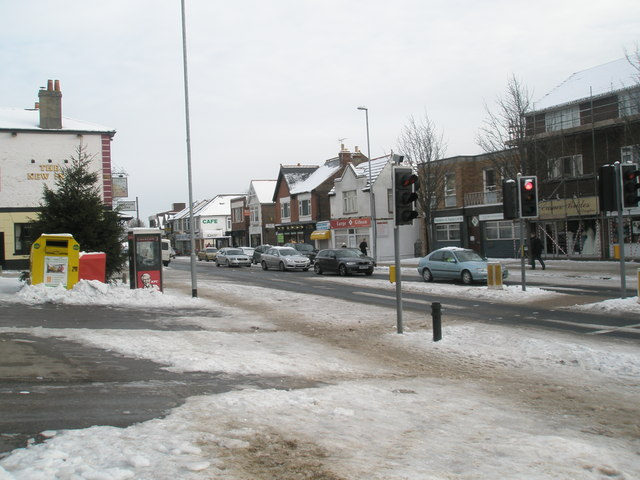 The centre of Drayton after January snow