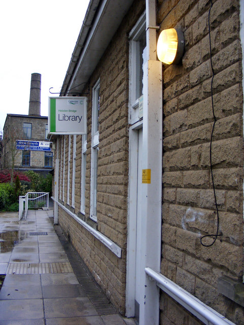 Temporary library at Hebden Vale Centre