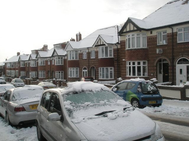 Lower Drayton Lane after heavy snow