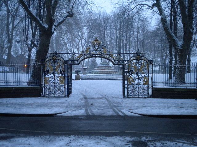 Gates at St Pancras Old Church, Pancras Road NW1