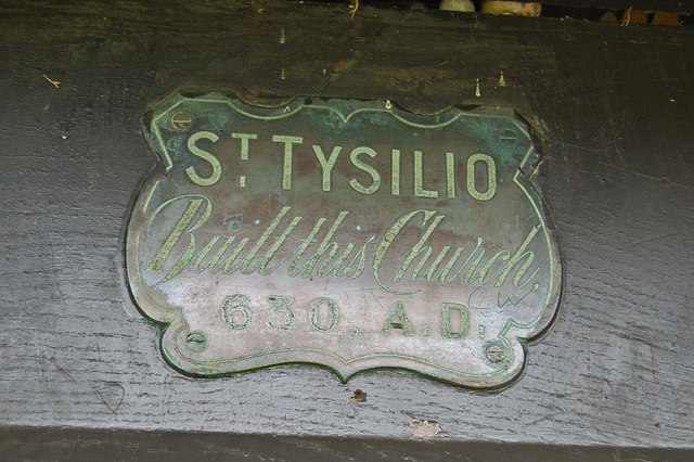 Plaque at Church of St Tysilio, Anglesey