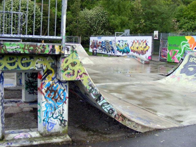 Skate ramps, Calder Holmes Park