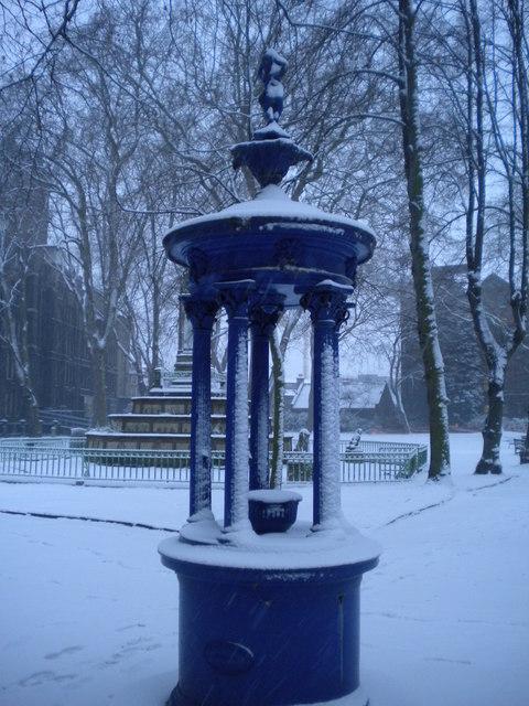 Water fountain, St Pancras Gardens, Pancras Road NW1