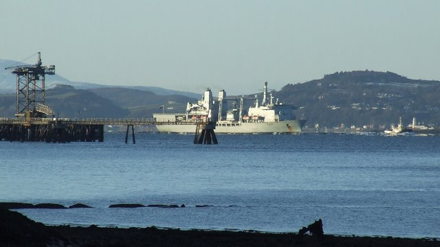 RFA Fort George at Inverkip