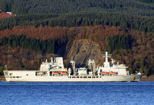 RFA Fort George passing Bullwood Quarry