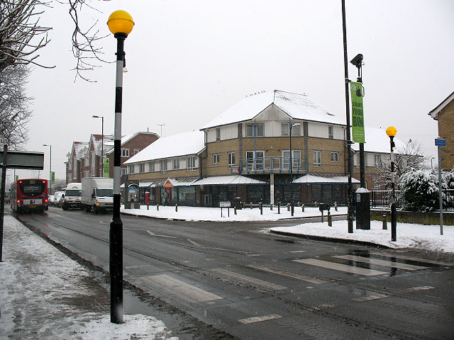 Zebra crossing on Church Road, Mitcham