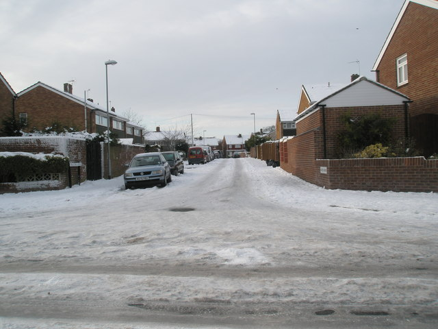 Looking from Lower Drayton Lane into Racton Avenue