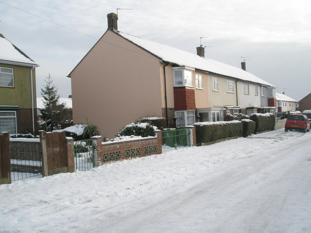 A snowy Invergordon Avenue