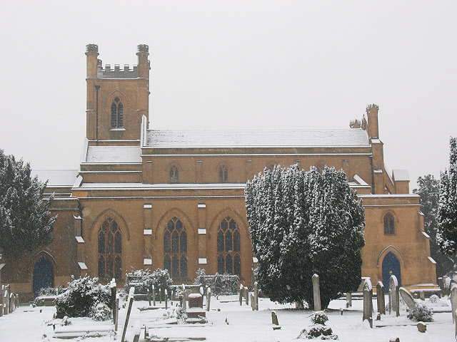 Mitcham parish church: north side