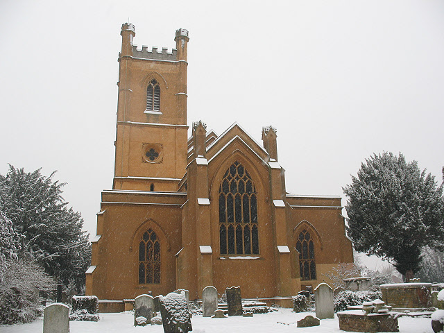 Mitcham parish church: east end