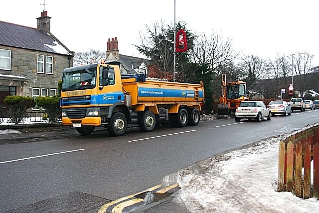 Clearing Snow in the High Street