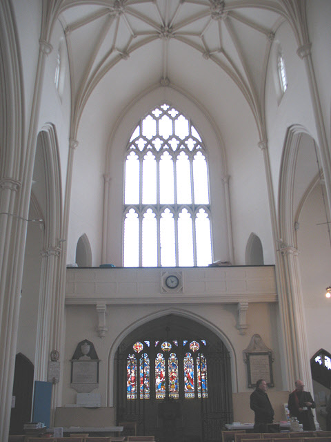 Mitcham parish church: interior looking west