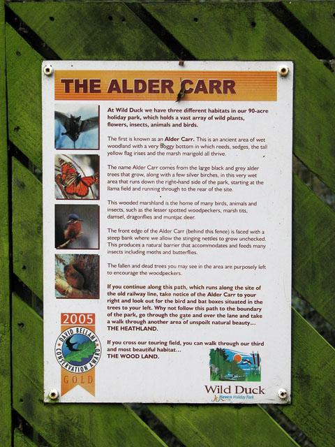 The Alder Carr (sign)