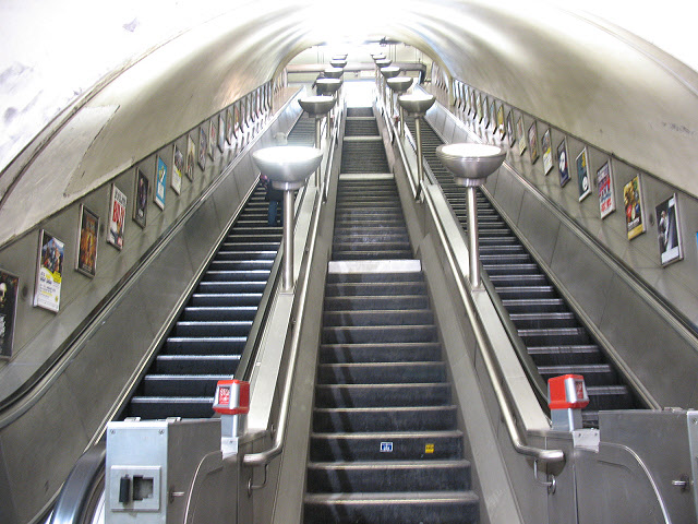 Escalators at South Wimbledon station