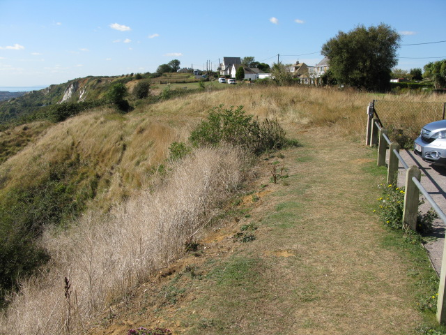 View along the cliff top path, Capel-le-Ferne