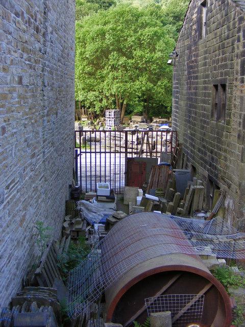 Yard next to Mayroyd  Mill