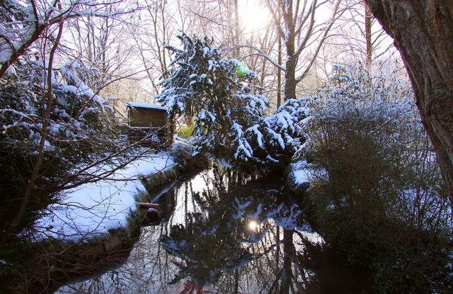 Looking upstream of Mill Brook