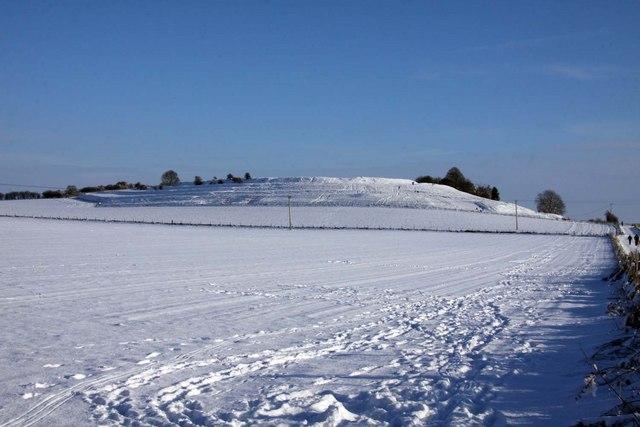 Snow covered Blewburton Hill