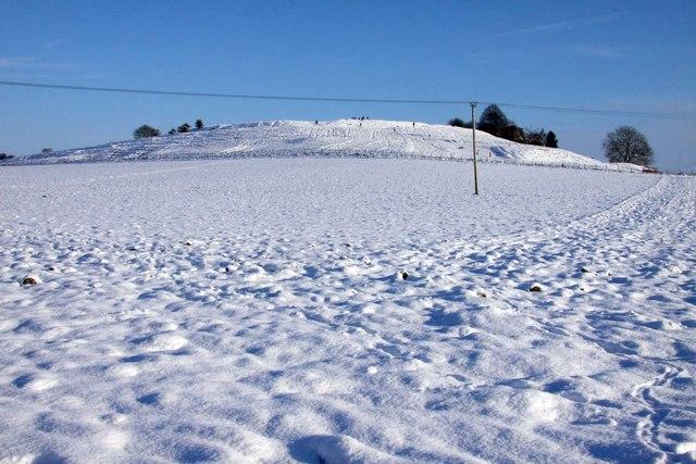 Blewburton Hill under a blanket of snow
