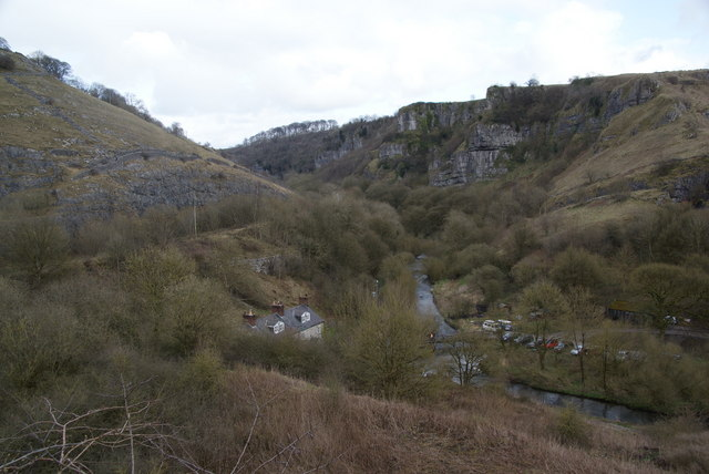 Looking back down into Chee Dale