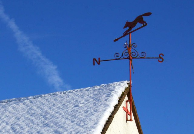Weather vane at Winterbrook Farm