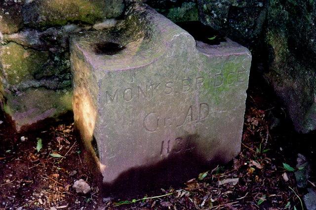 Ballasalla - Stone stating Monks Bridge, 1134 AD