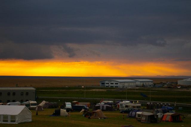 Camping ground near Chesil Beach