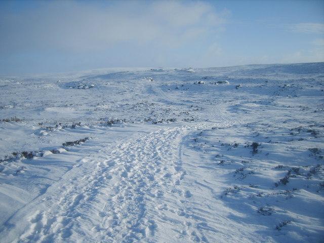 Track on Clougha