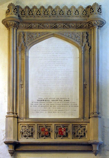 St George, Esher, Surrey - Wall monument