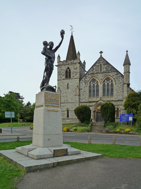 War memorial and Redhill United Reformed Church