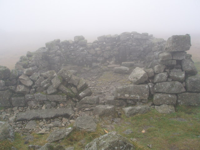 The shelter cairn on the summit of Cairnsmore of Fleet