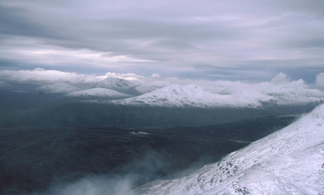 Winter view north west from top of Ben More