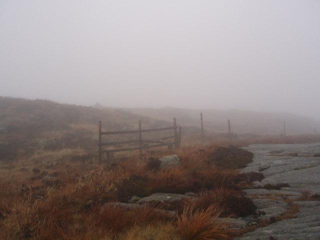 Broken stile near the Coo Lochans