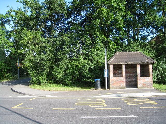Brick bus shelter