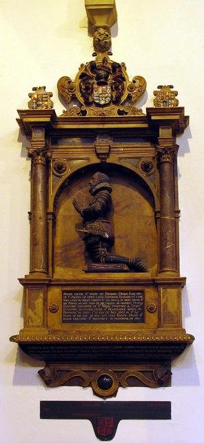 Christ Church, Esher, Surrey - Wall monument