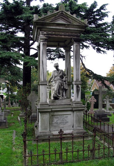 Christ Church, Esher, Surrey - Churchyard monument