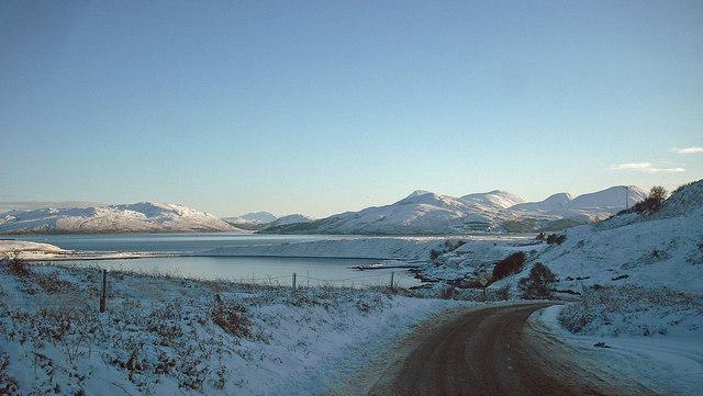 The Braes road, in winter