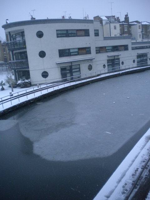 Regent's Canal from Royal College Street Bridge NW1