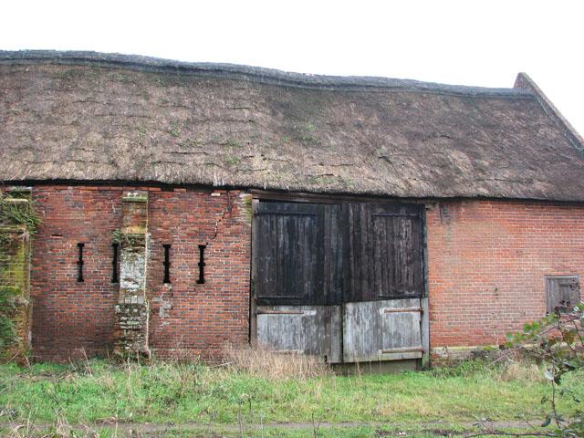 Brick barn at Beech Farm (detail)