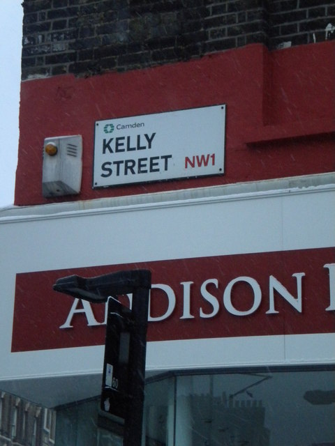 Street sign, Kelly Street NW1