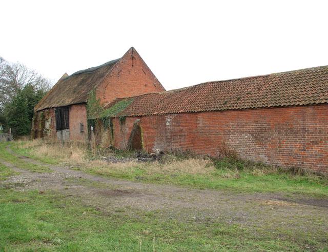 Brick barns at Beech Farm