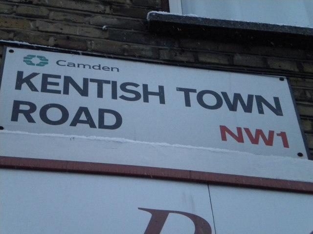 Street sign, Kentish Town Road NW1